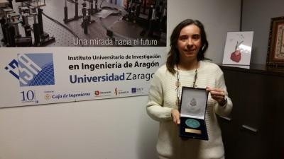 Una investigadora del I3A recibe el premio de la Real Academia de Ingeniería