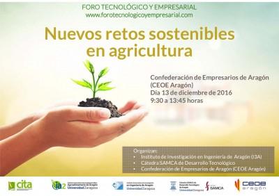 Nuevos retos tecnológicos para lograr una agricultura sostenible