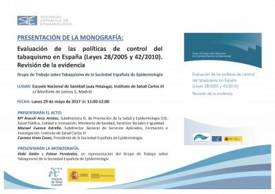 La Sociedad Española de Epidemiología hace balance de las políticas de control del tabaquismo en España y su repercusión en la salud