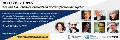 Teruel acoge el foro ¿Sigue siendo el futuro lo que era? con prestigiosos especialistas que debatirán sobre las transformaciones sociales que impondrá la cuarta revolución industrial