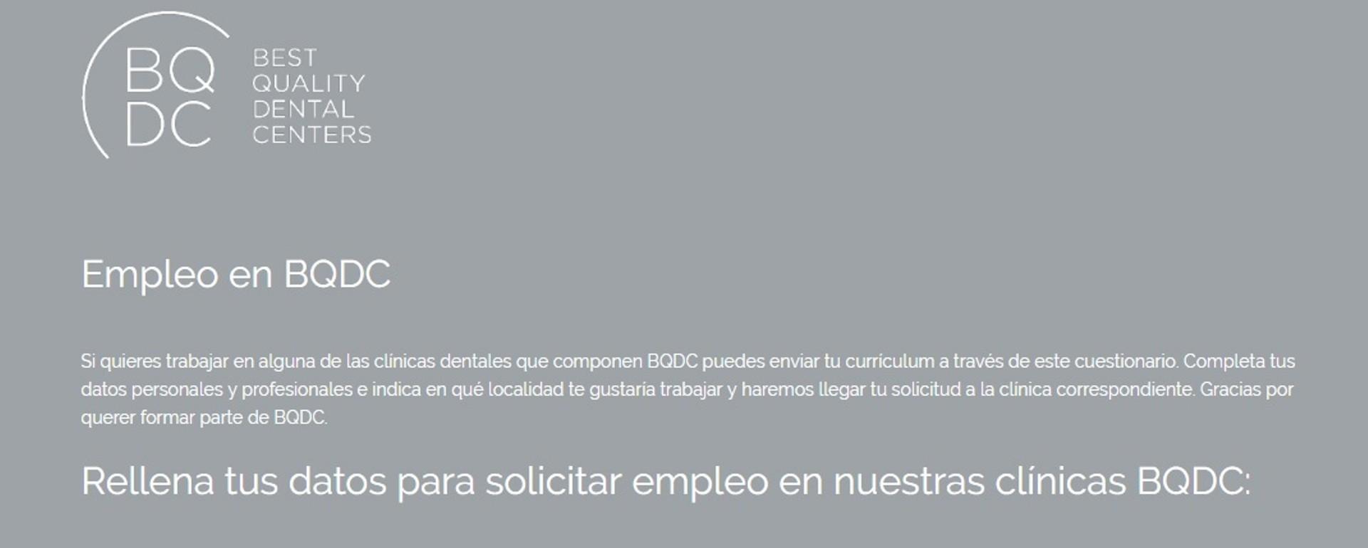 La Asociación de Dentistas BQDC crea una plataforma web para quienes buscan trabajo en el sector de la Odontología