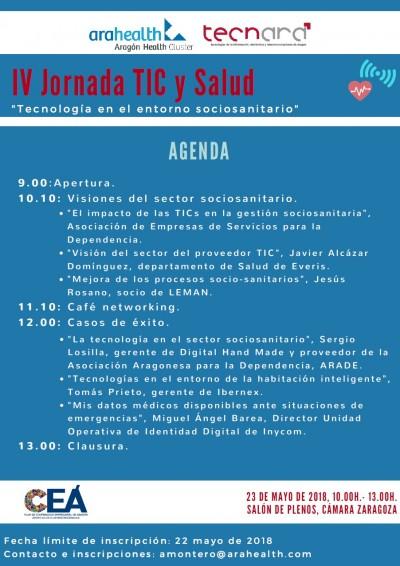 IV Jornada Arahealth y Tecnara sobre tecnología y salud, que este año pone el acento en los servicios sociosanitarios