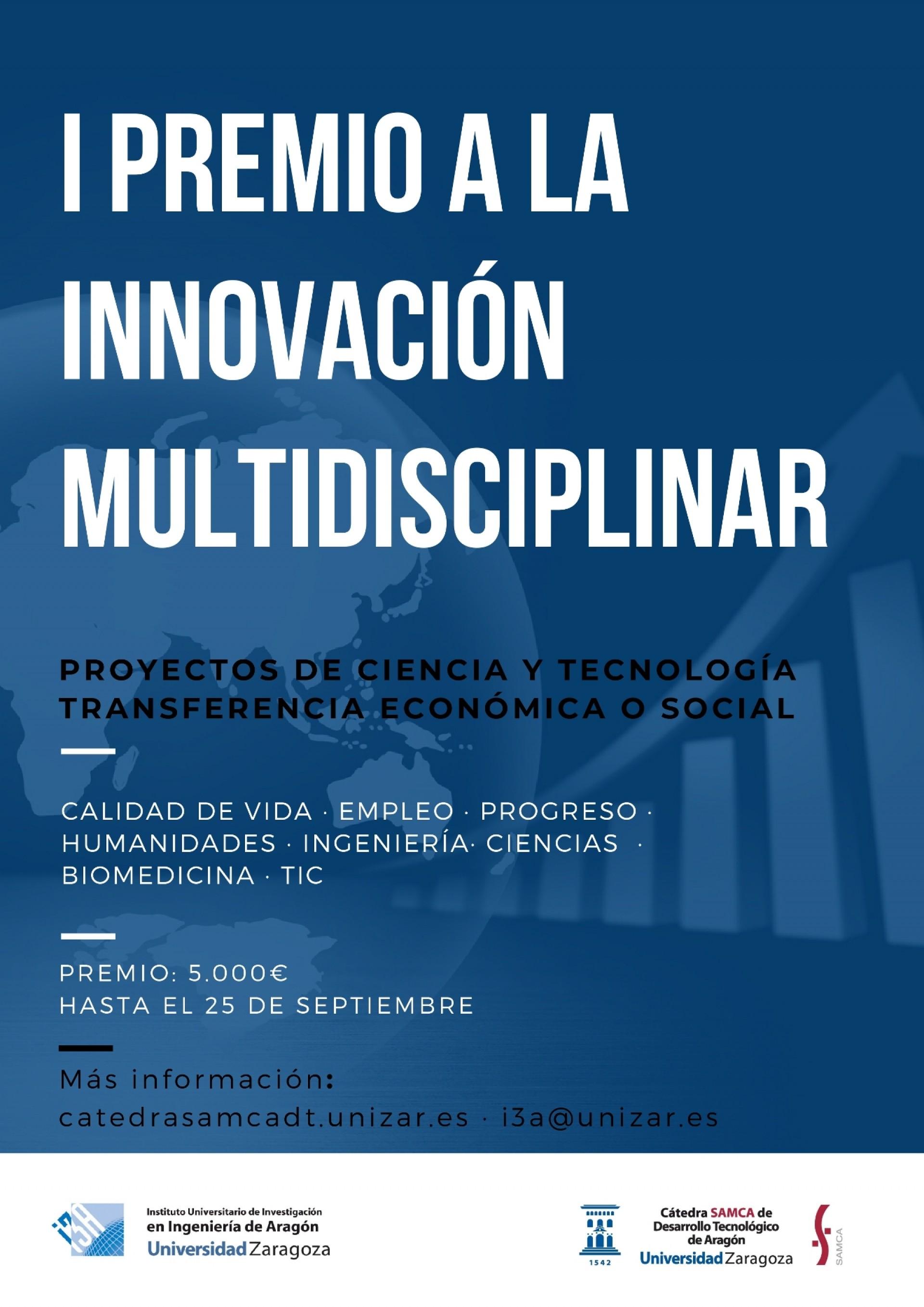 La Cátedra SAMCA de la Universidad de Zaragoza convoca su Primer Premio a la Innovación Multidisciplinar en I+D+i